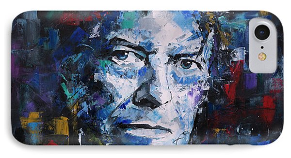 IPhone Case featuring the painting David Bowie by Richard Day