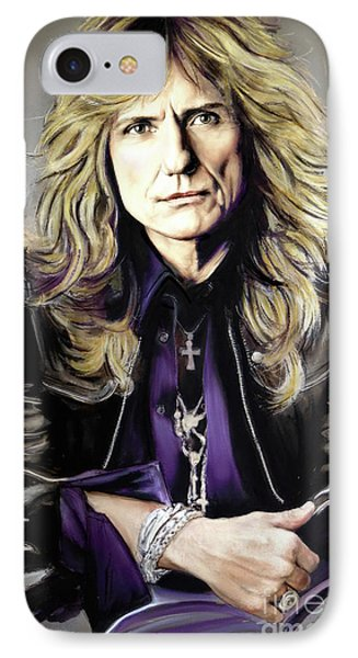 Jimmy Page iPhone 7 Case - David Coverdale 1 by Melanie D