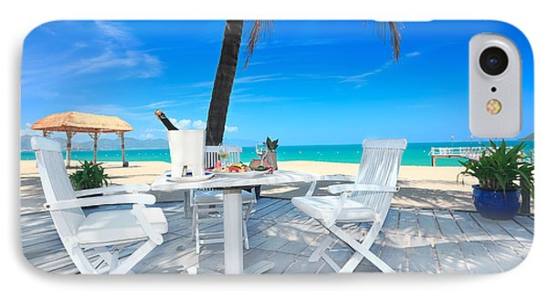 Dinner On The Beach IPhone Case by MotHaiBaPhoto Prints