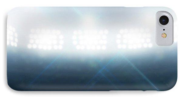 Discus In Generic Floodlit Stadium IPhone Case