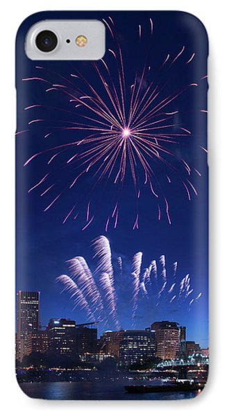 Downtown Fireworks IPhone Case by Patrick Campbell