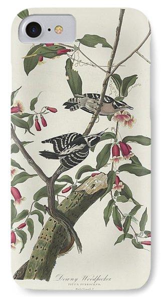 Downy Woodpecker IPhone 7 Case by Anton Oreshkin