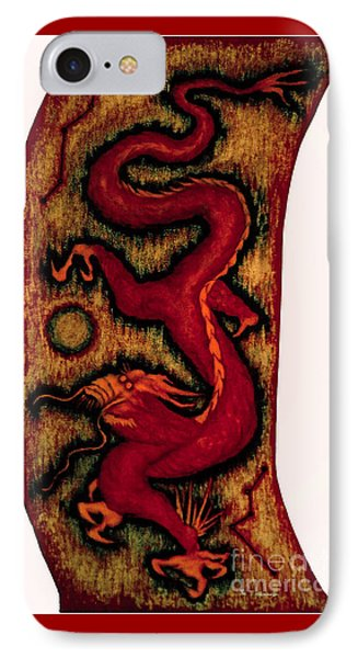 IPhone Case featuring the painting Dragon by Fei A