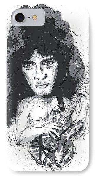 Eddie Van Halen IPhone 7 Case by Gary Bodnar