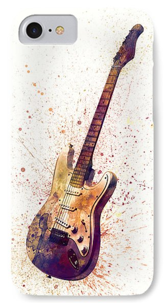 Electric Guitar Abstract Watercolor IPhone Case