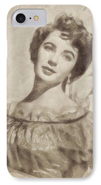 Elizabeth Taylor, Vintage Hollywood Legend By John Springfield IPhone 7 Case