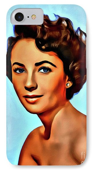 Elizabeth Taylor, Vintage Hollywood Legend IPhone 7 Case by Mary Bassett