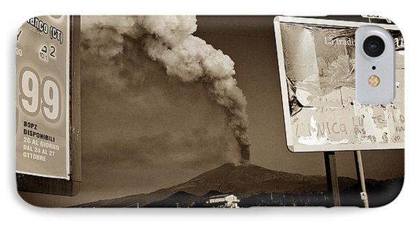 IPhone Case featuring the photograph Etna, The Volcano by Bruno Spagnolo