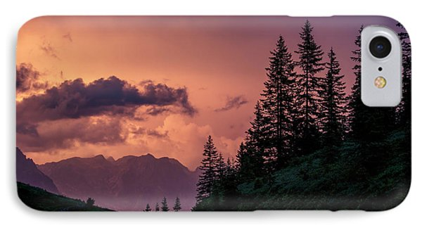 Evening In The Alps IPhone Case by Nailia Schwarz