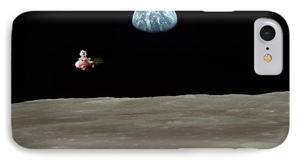 Fifi Goes To The Moon Phone Case by Michael Ledray
