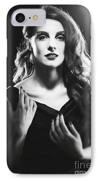 Film Noir Woman IPhone Case by Amanda Elwell