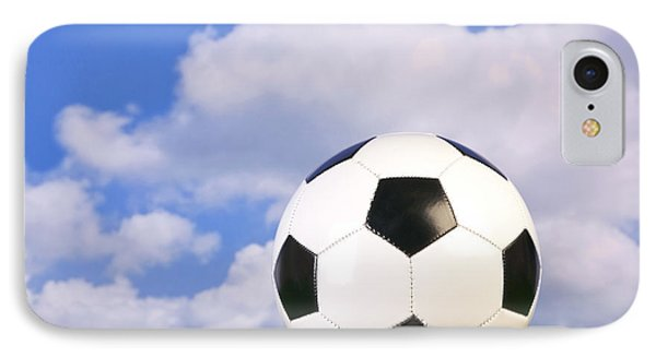 Football On Grass IPhone Case by Richard Thomas