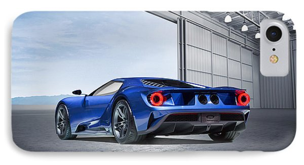 IPhone Case featuring the digital art Ford Gt by Peter Chilelli