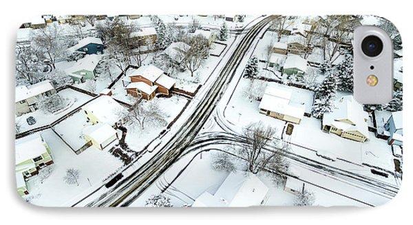 Fort Collins Winter Cityscape IPhone Case by Marek Uliasz