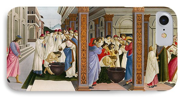 Four Scenes From The Early Life Of Saint Zenobius IPhone Case by Sandro Botticelli