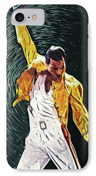 Freddie Mercury IPhone Case by Taylan Apukovska