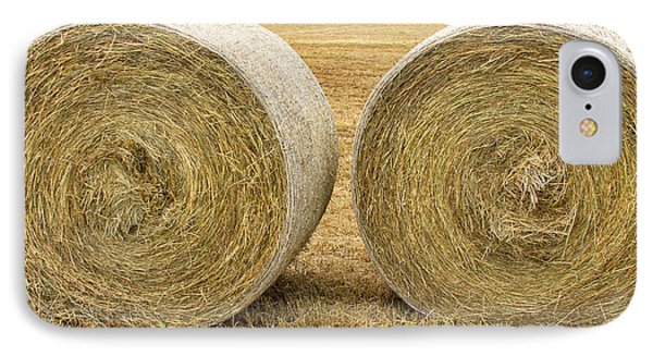 2 Freshly Baled Round Hay Bales Phone Case by James BO  Insogna