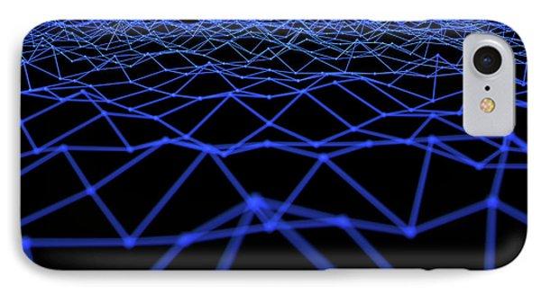Futuristic Plexis Background IPhone Case