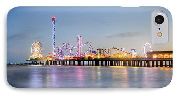 Galveston Pleasure Pier Sunset IPhone Case by Ray Devlin