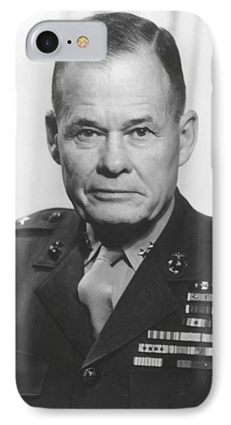 Cross iPhone 7 Case - General Lewis Chesty Puller by War Is Hell Store