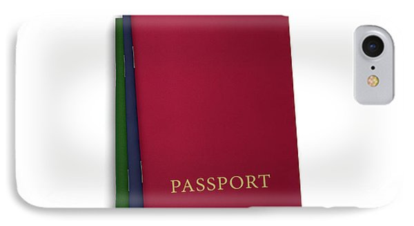 Generic Passport Stack  IPhone Case by Allan Swart