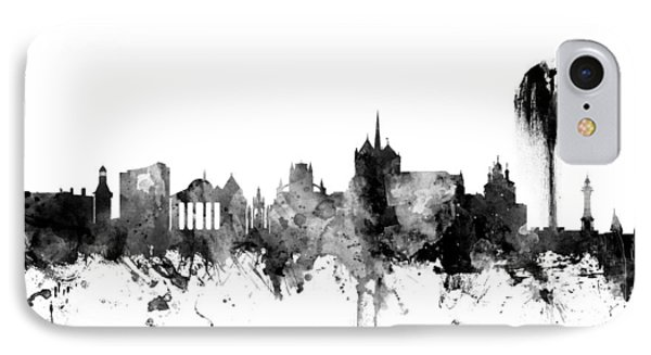 Geneva Switzerland Skyline IPhone Case by Michael Tompsett