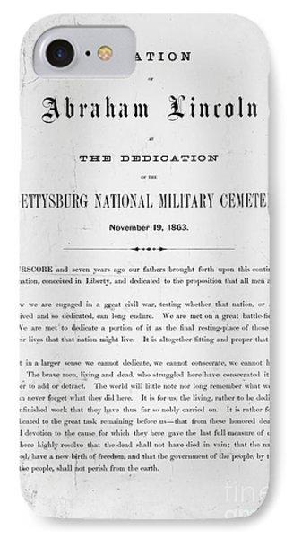 Gettysburg Address, 1863 Phone Case by Granger
