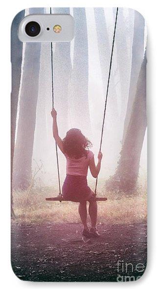 Girl In Swing IPhone Case by Carlos Caetano