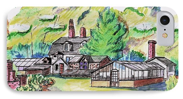 Glen Magna Farms Green House IPhone Case by Paul Meinerth