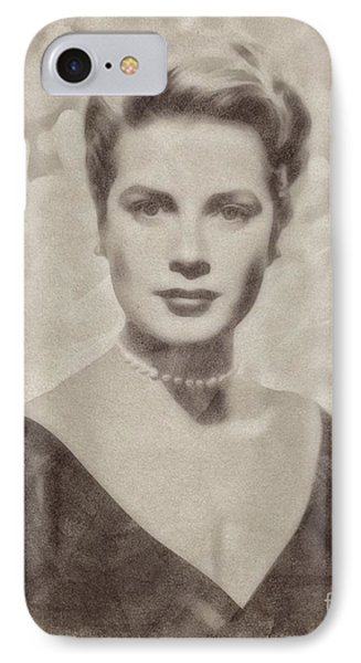 Grace Kelly, Actress And Princess IPhone Case by John Springfield