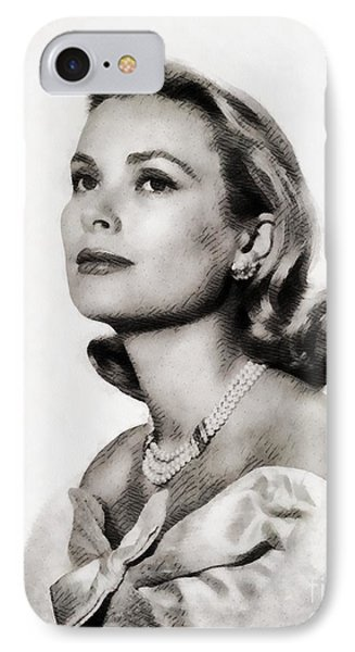 Grace Kelly, Vintage Hollywood Actress IPhone 7 Case