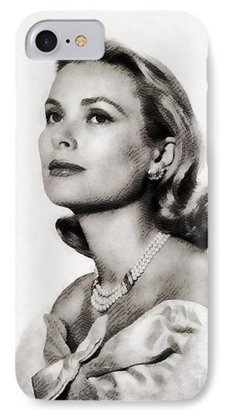 Grace Kelly, Vintage Hollywood Actress IPhone Case by John Springfield