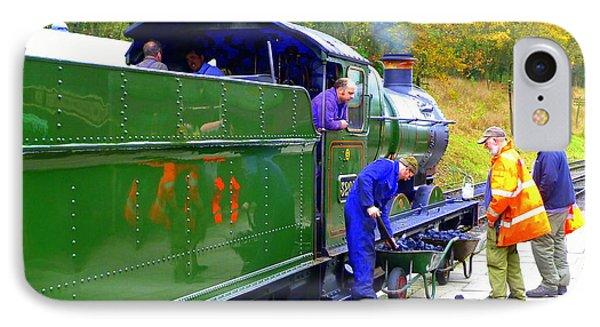 Gwr 0-6-0 No 3205 Steam Engine  IPhone Case by Gordon James