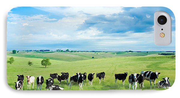 Cow iPhone 7 Case - Happy Cows by Todd Klassy