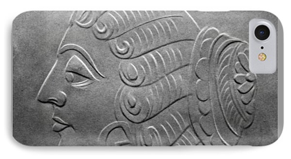 IPhone Case featuring the relief Head by Suhas Tavkar