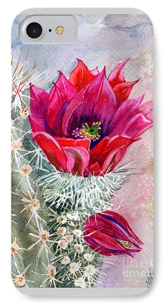 Hedgehog Cactus IPhone Case by Marilyn Smith