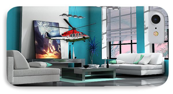 Helicopter Art IPhone 7 Case