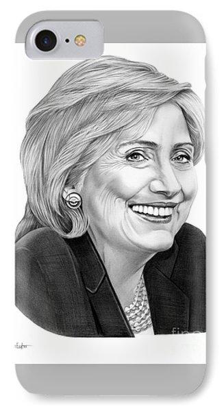 Hillary Clinton IPhone 7 Case by Murphy Elliott