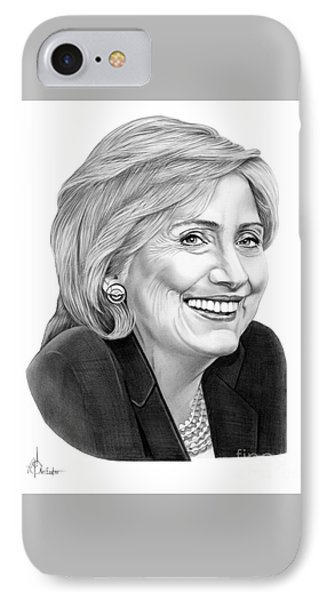 Hillary Clinton IPhone Case by Murphy Elliott