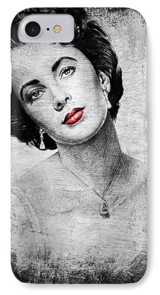 Hollywood Greats Elizabeth Taylor Phone Case by Andrew Read