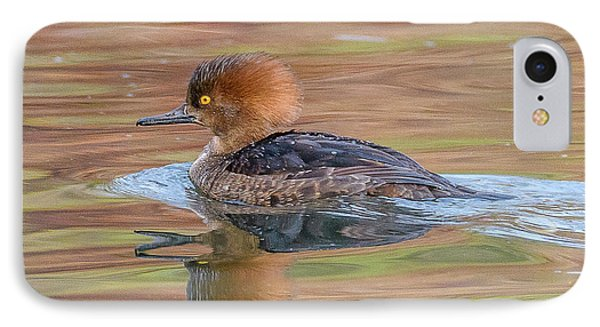 Hooded Merganser IPhone Case by Jerry Cahill