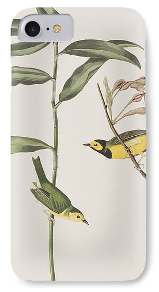 Hooded Warbler  IPhone 7 Case by John James Audubon
