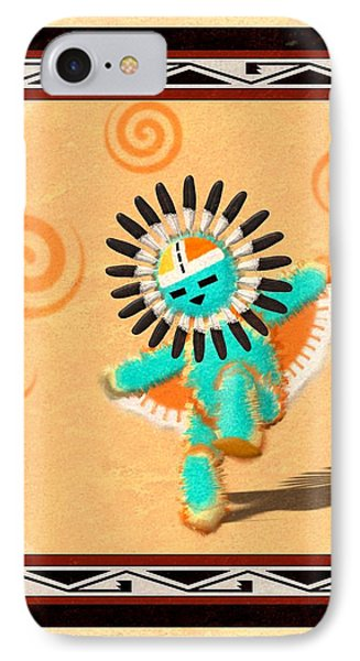 Hopi Sun Face Kachina IPhone Case by John Wills