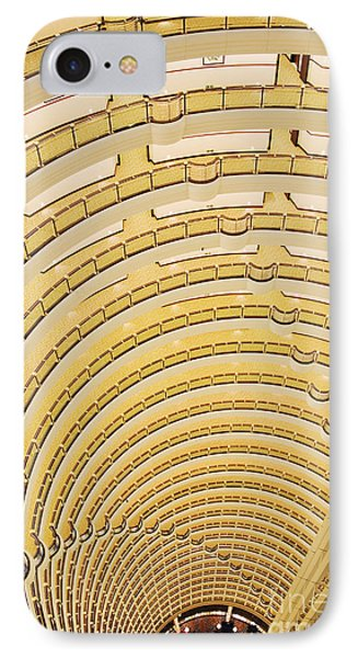 Hotel Atrium In The Jin Mao Tower Phone Case by Jeremy Woodhouse