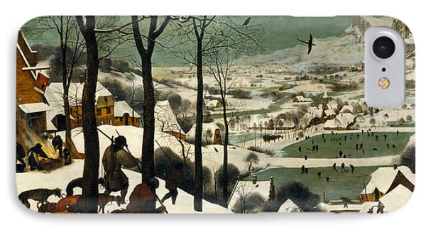 Hunters In The Snow IPhone Case by Pieter Bruegel the Elder