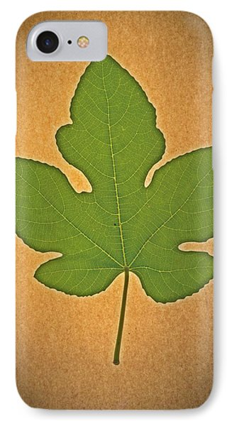 IPhone Case featuring the photograph Italian Honey Fig Leaf by Frank Wilson