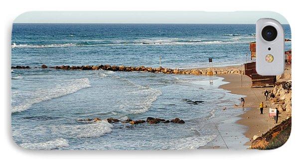 Jaffa Beach 7 IPhone Case by Isam Awad