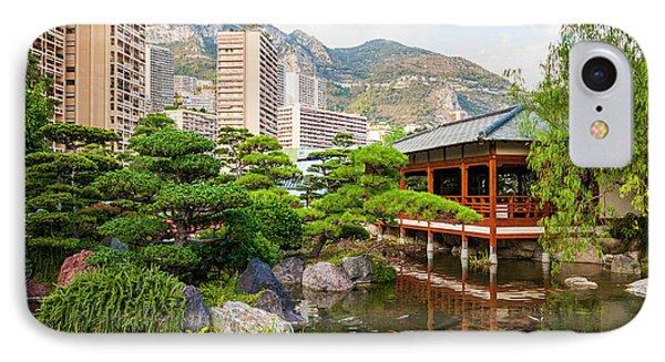 Japanese Garden In Monte Carlo. IPhone Case by Elena Elisseeva
