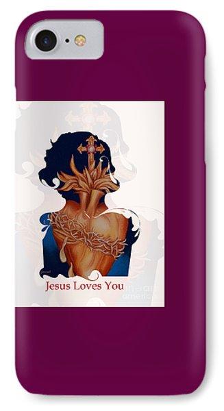 Inri Jesus Loves You   M29 IPhone Case