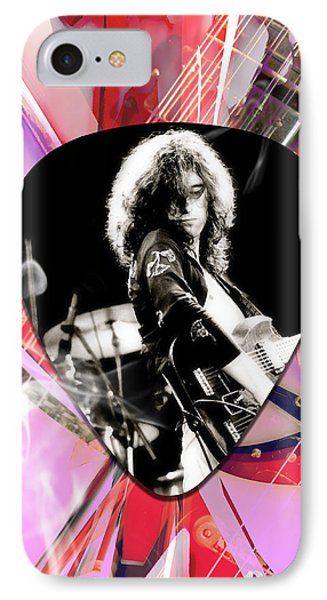 Jimmy Page Led Zeppelin Art IPhone Case by Marvin Blaine